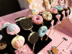 Kawaii Sweets Jewelry By Kawaii Factory Crea Fimo, Fimo Clay, Polymer Clay Charms, Polymer Clay Creations, Polymer Clay Jewelry, Kawaii Accessories, Kawaii Jewelry, Cute Jewelry, Candy Jewelry