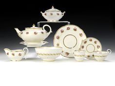 Lot 242 The Edwards Service: An important Nantgarw tea and coffee service, circa 1818-20 Sold for £9,000 inc. premium