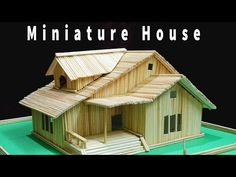 Miniature house Bamboo stick house .Want to know how easy to create this ? Click on YouTube link :https://youtu.be/Y16B6bL-_AE