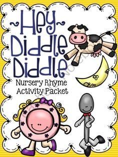 Hey Diddle Diddle Nursery Rhyme Activity Packet from Notebooking Nook on TeachersNotebook.com - (96 pages) - Hey Diddle Diddle Nursery Rhyme Activity Packet