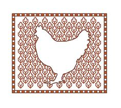 Blackwork Hen PDF blackwork animals pattern hens by CottonSeason, £1.50