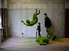 Growing Grass Sculptures