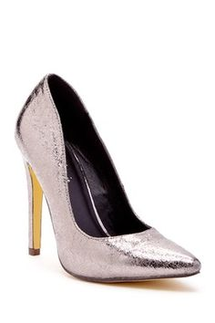 Lamiss Metallic Pointed Toe Pump