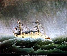 The Boat In The Storm - Henri Julien  Rousseau - www.henrirousseau.org
