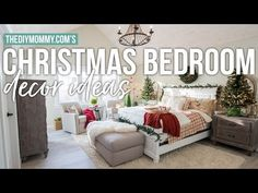 Traditional Christmas Bedroom Decor Ideas – Mom's Lake House | The DIY Mommy