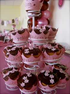 Cupcake liners... re Princess Baby Shower by My Fair Cupcakes. For more baby shower ideas visit www.getthepartystarted.etsy.com