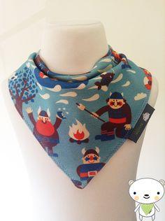 Handmade BELLAOSKI Baby Bandana Dribble Bib with Dutch Designer VIKIINGS Jersey Fabric GREAT GIFT IDEA  £5.00