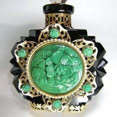 Image result for jewelled czech perfume bottles