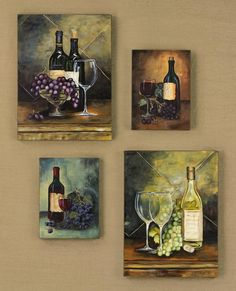how to decorate a wine bottle hand painted wine wall art wine decorative art - Wine Wall Decor