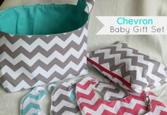 Sew Delicious: Chevron Baby Shower Gifts