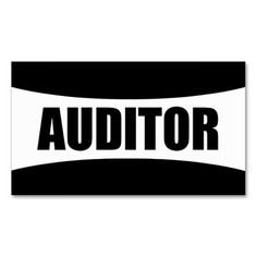 Auditor Business Card