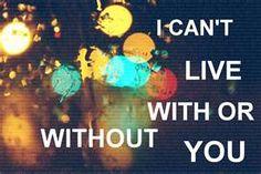 With or Without You lyrics, U2 lyrics