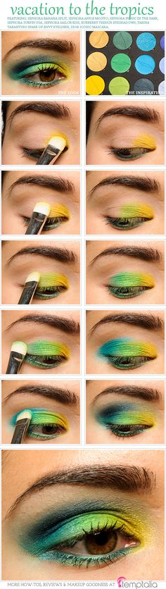 Parrot eye make up