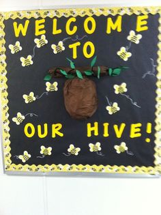 Bee themed bulletin board ideas | Classroom Ideas / My Bee Themed bulletin board. The first week of ...