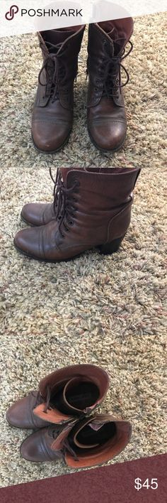 Heeled lace up Steve Madden boots Heeled lace up Steve Madden boots Steve Madden Shoes Lace Up Boots
