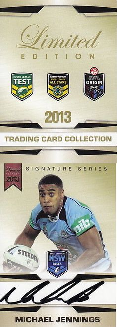 Rugby League NRL Cards 25583: Nrl - 2013 Rugby Trading Card Collection Signature Set ~ Michael Jennings # 167 -> BUY IT NOW ONLY: $79.99 on eBay!