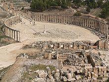 Jerash - Jordania - Fórum Romano