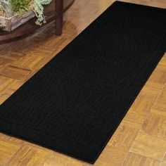 Mainstays Dylan Nylon Area Rugs or Runner Collection, Black