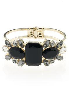 M&S Collection Jewel Embellished Diamanté Cuff Bracelet