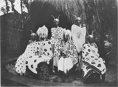 King Musinga and the royal family, Rwanda Photographer unknown c. 1910, silver gelatin print