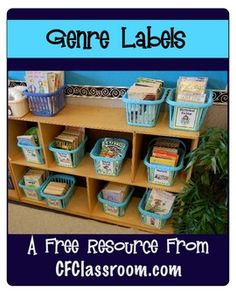 FREE Genre Labels for Your Classroom Library. This FREE document was designed to compliment my 43 page TEACHING GENRE KIT (which is available in my TPT store). It includes labels for your classroom library and features clipart by Thistlegirl Designs. Class Library, Library Lessons, Class Books, Class Class, Free Library, Reading Lessons, Classroom Library Labels, Classroom Themes, Classroom Libraries
