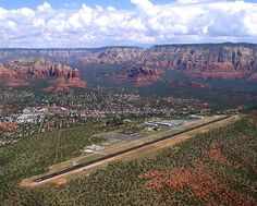 View of Sedona that a pilot sees.. It's like landing on a hilltop mesa.