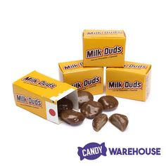 Excellent for Halloween and lunch! Milk Duds, Orange Candy, Classic Candy, Chocolate Coating, Candies, Painted Rocks, Cravings, Caramel, Sweet Tooth