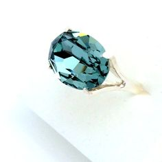 Sterling Silver Ring / Swarovski Stone Ring / Swarovski by Ranitit