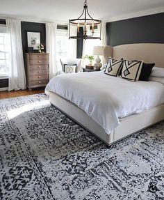 Farmhouse Master Bedroom, Master Bedroom Makeover, Master Bedroom Design, Master Suite, Bedroom Designs, Master Bedrooms, Master Master, Dark Master Bedroom, Bedroom Rustic