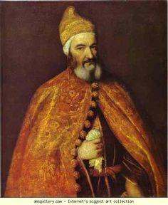 Titian. Portrait of Doge Marcantonio Trevisani. 1553, Szepmuveseti muzeum , Budapest, Hungary
