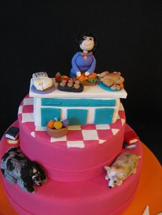 Cooking in the Kitchen Cake by phillipascakes, via Flickr