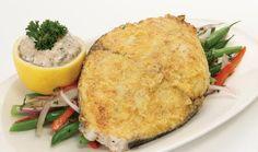Cornmeal Crusted Mackerel Steaks with Spicy Yogurt Sauce & more Kingfish recipes