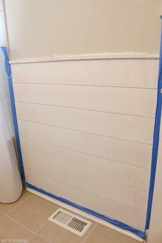 How to add shiplap to your bathroom on the cheap! Love this inexpensive idea to update the entire look of your space.