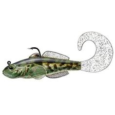 """Goby Single Tail - 3 1-4"""", Number 1-0 Hook Size. Variable Depth, Green"""