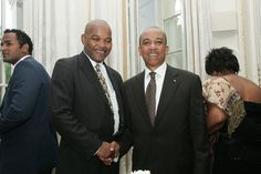 Donald Sweeting meets His Excellency Paul Farqueson, Bahamas High Commissioner in London