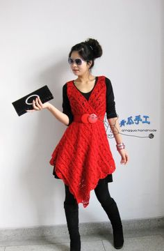 crochet beauty dress in a scarf shape | make handmade, crochet, craft