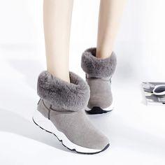 Ucuz Ünlü tasarımcı kadınlar kürk kar botları 2016 kış platformu çizmeler kadın pamuk yastıklı sürüngen ayakkabı kadın takozlar ayak bileği çizmeler, Satın Kalite bayan botları doğrudan Çin Tedarikçilerden: