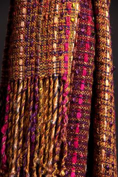 Woven shawl : color and texture