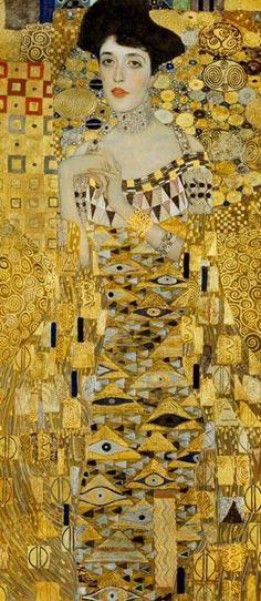 Gustav Klimt - Bildnis Adele-Bloch-Bauer (Detail)