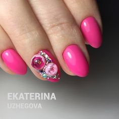 Estas flores están hechas a mano con la novedosa técnica en nail-art #candyball ❤️ Nueva tendencia en Rusia más foto