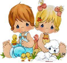 ❤Lamb and Ducklings ~ Precious Moments Precious Moments Quotes, Precious Moments Coloring Pages, Precious Moments Figurines, Cute Images, Cute Pictures, Sarah Kay, Jolie Photo, Monster High Dolls, Digi Stamps