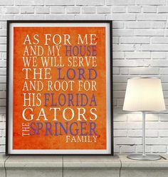 Florida Gators Art Print CUSTOMIZED by ParodyArtPrints on Etsy