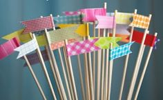 Palillos decorados con Washi tate