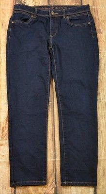 Simply Vera Wang Ankle Jeans Womens Size 6 Dark Wash