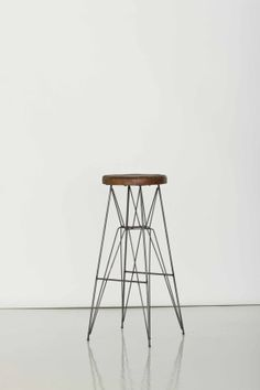 Vintage Industrial Wire Stool // Photography by MuseumofAntiquity, $110.00