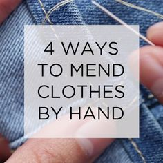 4 Easy Ways To Mend Clothes Ideas Clothes Clothing hacks videos easy Mend Ways Sewing Hacks, Sewing Tutorials, Sewing Crafts, Sewing Projects, Sewing Tips, Tutorial Sewing, Diy Crafts, Techniques Couture, Sewing Techniques