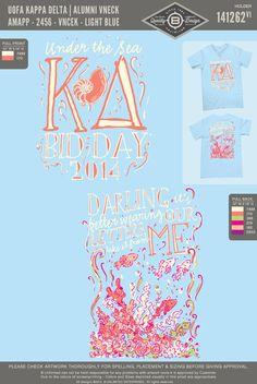 """Under the Sea"" themed bid day t-shirt."
