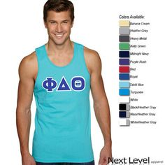 Next Level Fraternity Tank with Twill Letters - 3633