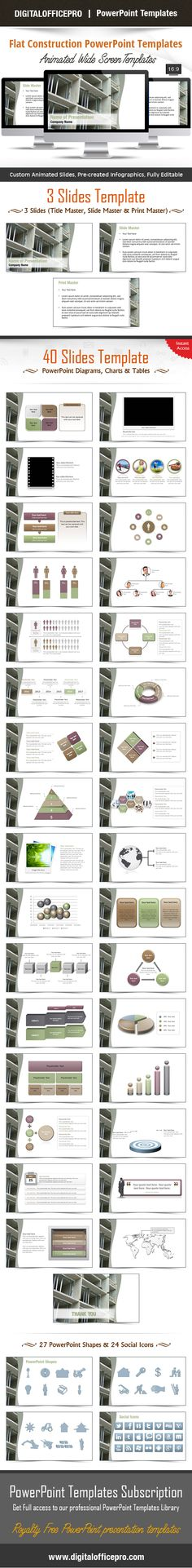 Impress and Engage your audience with Flat Construction PowerPoint Template and Flat Construction PowerPoint Backgrounds from DigitalOfficePro. Each template comes with a set of PowerPoint Diagrams, Charts & Shapes and are available for instant download.