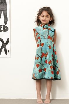 Redfish Kids Clothing Online Store - Long Sleeve Kimono Dress $72 ...